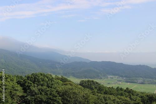 Fotobehang Blauwe hemel Tsukuba