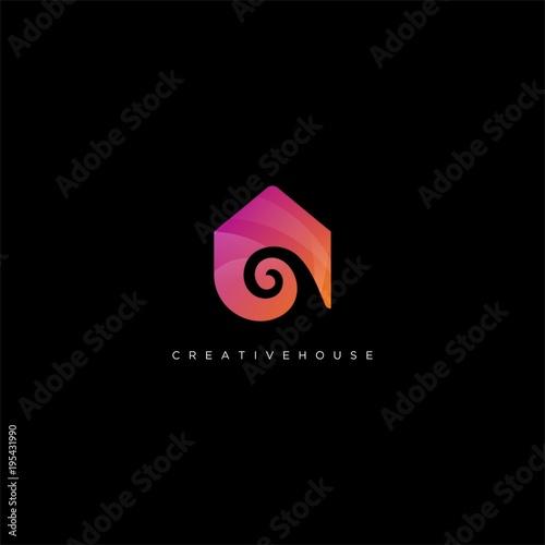 creative house logo icon template