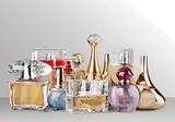 Aromatic Perfume bottles on desk - 195432924
