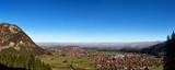 Herbststimmung am Morgen über Pfronten im Allgäu in Bayern, Deutschland.