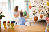 Perfect colorful handmade easter eggs - 195443595