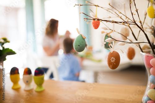 Foto Murales Perfect colorful handmade easter eggs