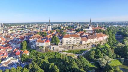 Aerial view of Tallinn skyline, Estonia