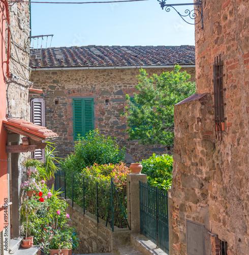 Fototapeta Medieval buildings of Montecatini Alto, Italy