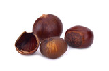 chestnuts isolated on white background - 195451139