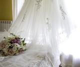 Wedding dress hanging - 195463351