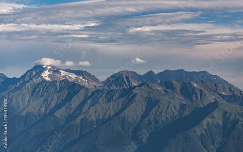 Fotobehang Nachtblauw mountain range