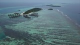 Aerial view of the islands in the country of Maldives. Area near Himmafushi island - 195474519