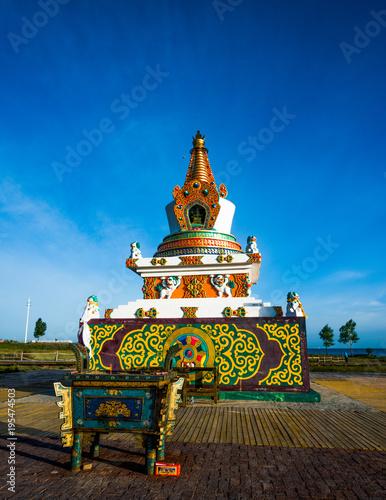 Plexiglas Boeddha Religion, belief in grassland