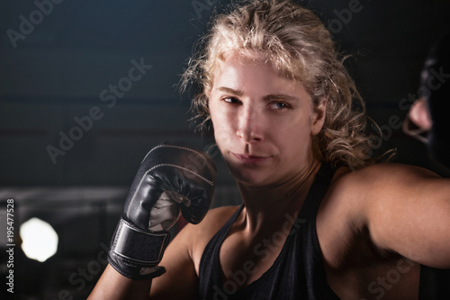 Blonde Women Boxing