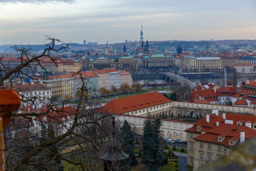 The rooftops of old city Prague