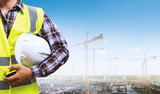 Building site and building design and engineers. - 195488556