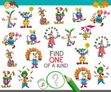 find one of a kind game with clown characters - 195499785