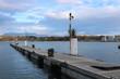 Leinwanddruck Bild - Steg an der See Promenade