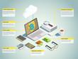 Financial Technology Isometric Layout