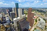 aerial of modern buildings in downtown Houston - 195523182
