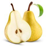ripe yellow pears