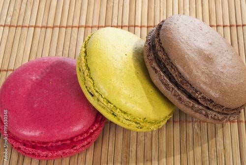 Plexiglas Macarons trois macarons
