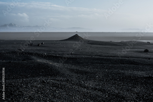 Foto op Canvas Zwart Icelandic winter landscape, from different locations, Iceland.