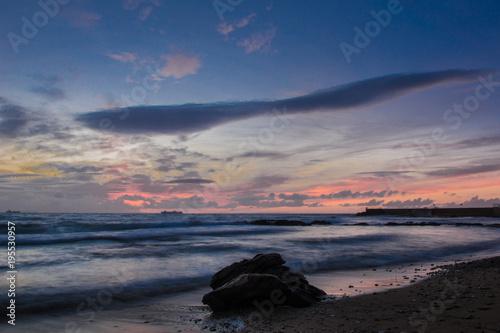 Staande foto Zee zonsondergang il mare