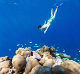 Boy swimming underwater - 195531987