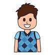 cartoon smiling man portrait character vector illustration
