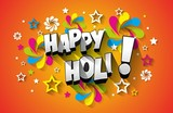 Creative colorful happy holi greeting card vector background