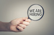 We are hiring. Conceptual image of job opportunities.