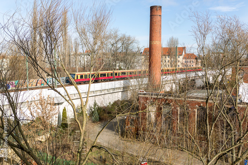 Aluminium Oude verlaten gebouwen Verlassene Fabrik mit Schornstein