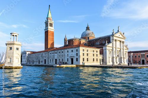 Fototapeta Daylight side view to San Giorgio Maggiore church