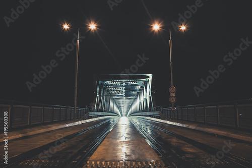 Papiers peints Autoroute nuit Tram way bridge at night