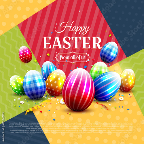 Modern Easter greeting card - 195567199