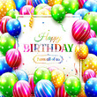 Colorful birthday greeting card - 195567344