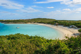 A view of the bay near the sailboat anchorage on Warderick Wells in the Exumas, Bahamas.