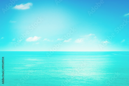 Fotobehang Turkoois Soft focus blue sky and sea fresh ,peaceful summer nature background