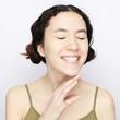 Positive human emotions. Headshot of happy emotional teenage gir