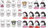 cartoon princess set