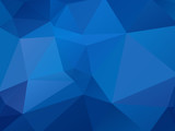 abstract blue geometric background - 195586763
