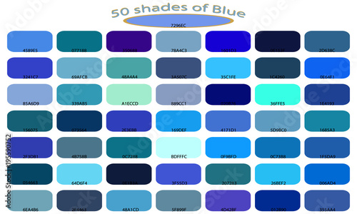 Palette Art Of Blue Color Tones And Shades 50