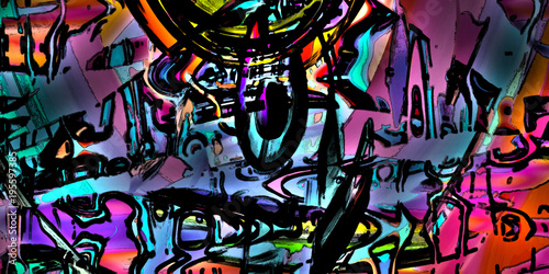 Fotobehang Graffiti Vitrification
