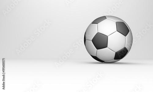 Klassischer Fussball auf einem hellen Hintergrund - 195600571