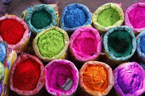 Foto Murales bright Indian colors , Jaipur, Rajasthan, India