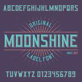 Vintage label typeface - 195608198
