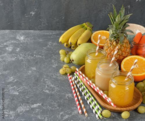 Fototapeta Fresh fruit juice
