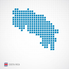 Costa Rica map and flag icon