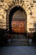 Wood Front Door & Stone Arch Entryway - Columbia Baptist Church - Columbia-Tusculum, Cincinnati, Ohio