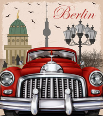 Berlin retro poster.