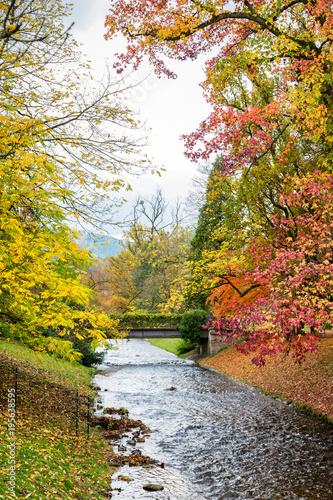 Foto op Canvas Natuur Baden-Baden, Deutschland, Herbst in der Lichtentaler Allee an der Oos