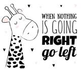 Vector cartoon sketch giraffe illustration