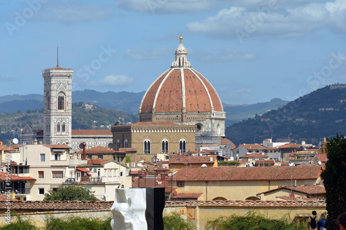 Poster Florence Cathedral of Florence and the Giottos campanile - Italy.